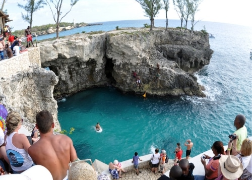 Cliff Diving At Ricks Cafe Negril Jamaica