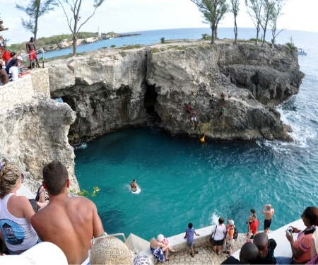 Ricks Cafe Cliff Diving Jamaica
