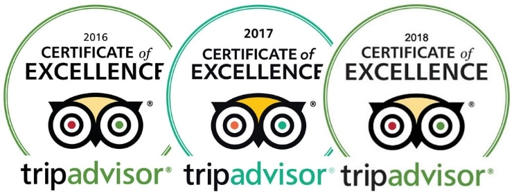 TripAdvisor Certificate of Excellence Since 2011